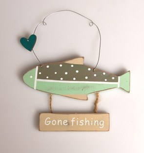 Gone Fishing Hanging Decoration - Dotties Gifts