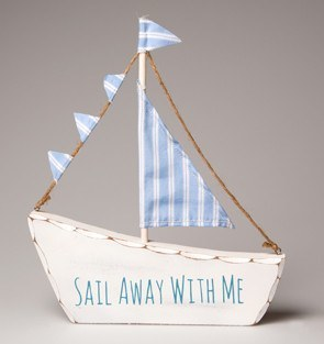 Sail Away With Me Boat - Dotties Gifts