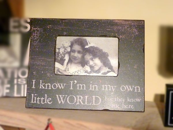Own Little World Frame - Dotties Gifts