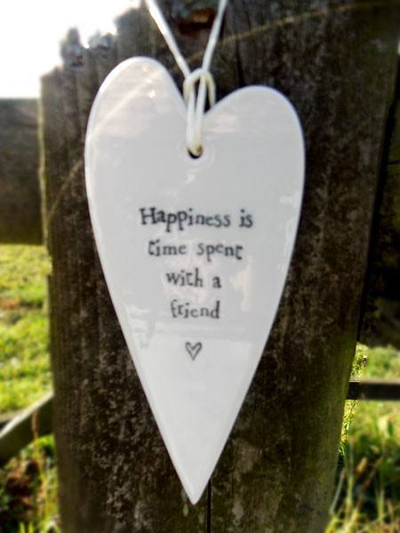 Porcelain Long Heart Happiness - Dotties Gifts