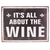 All About Wine Sign - Dotties Gifts