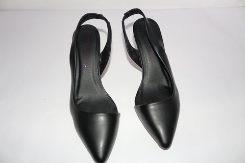 clearance C006 black short heels size 6
