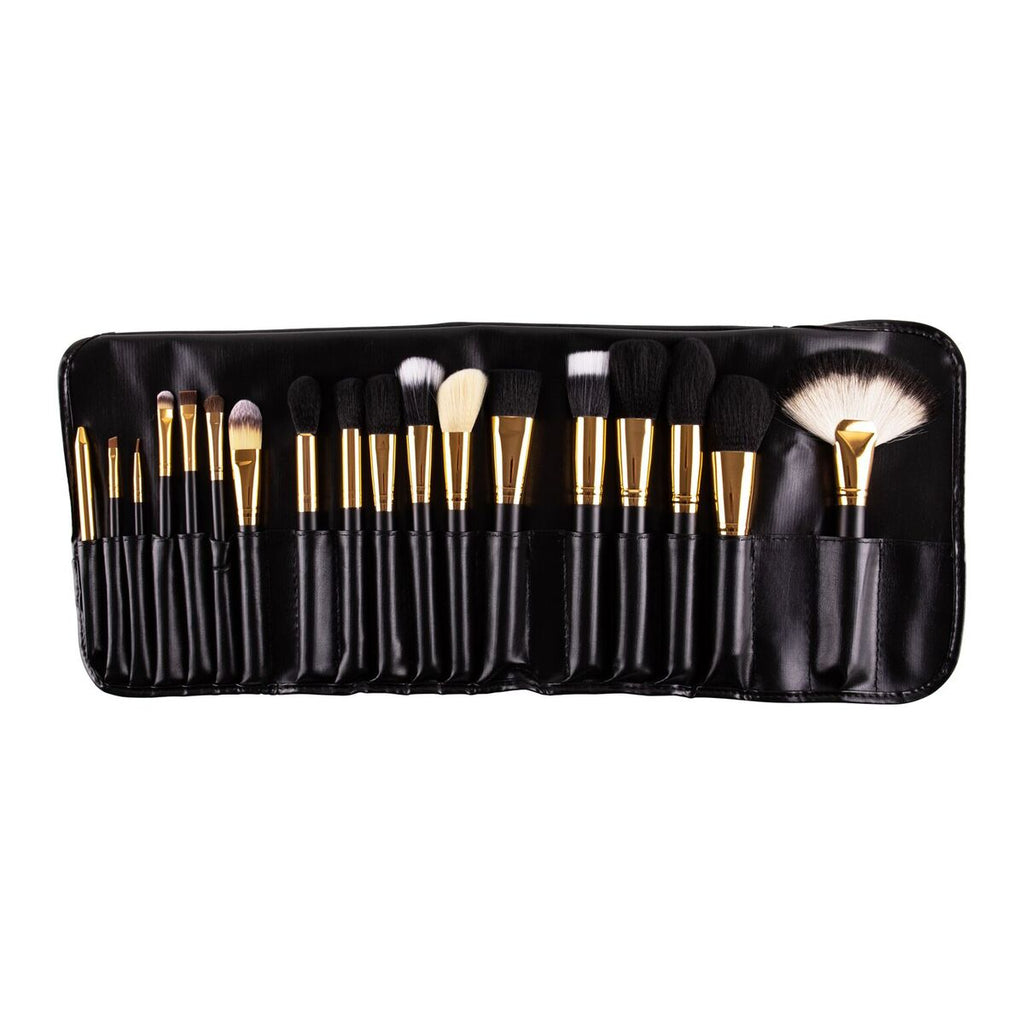 18pcs Black Gold Brush set