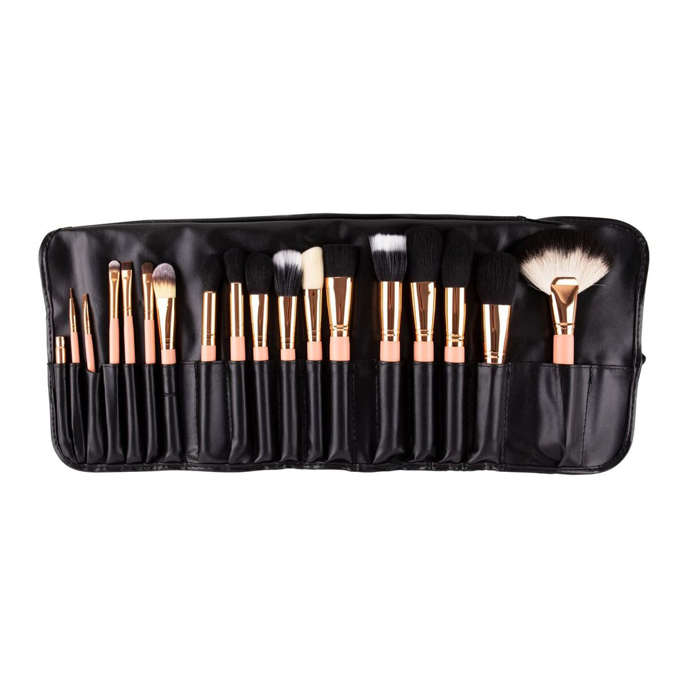 18pcs Rosegold brush set