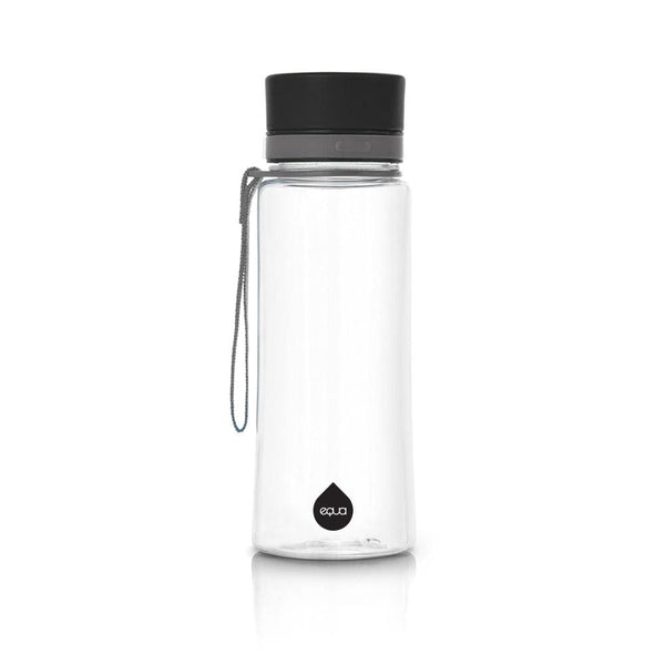 Plain Black - 400ml / 14oz 600ml / 20oz black bpa free plastic grey - EQUA