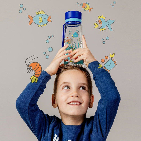 Equarium - 400ml / 14oz 600ml / 20oz blue bpa free plastic kids - EQUA