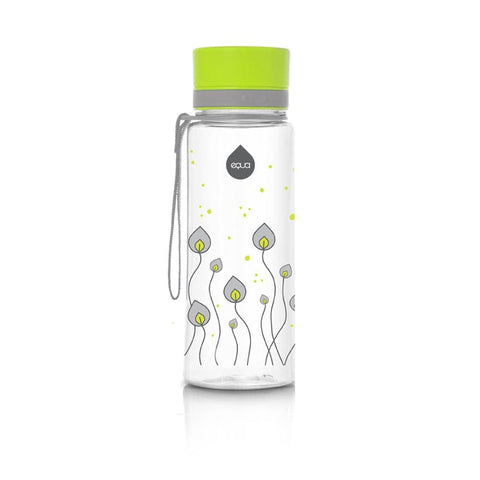 Green Leaves - 400ml / 14oz 600ml / 20oz bpa free plastic green grey - EQUA