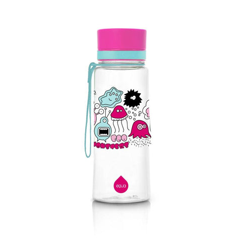 Pink Monsters - 400ml / 14oz 600ml / 20oz bpa free plastic kids mint - EQUA