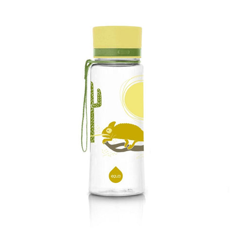 Chameleon - 600ml / 20oz bpa free plastic green kids yellow - EQUA