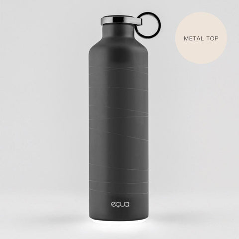 SMART MR. MATT - 680ml / 23oz black smart stainless steel - EQUA