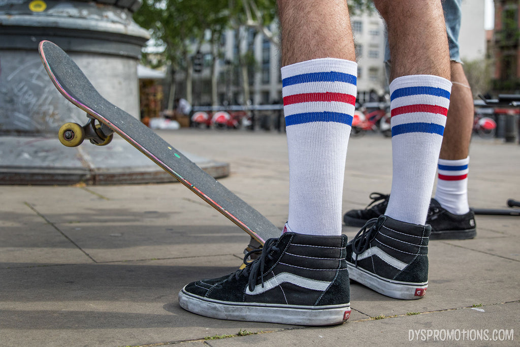 calcetines altos skate rallas american socks skateboarding