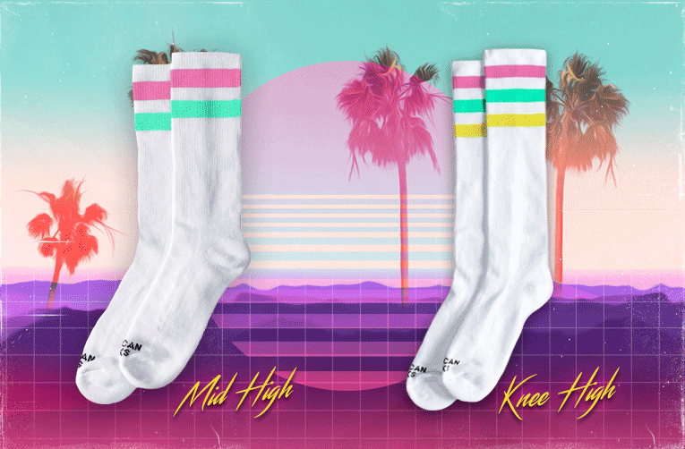 vice city socks mid high american socks calcetines miami