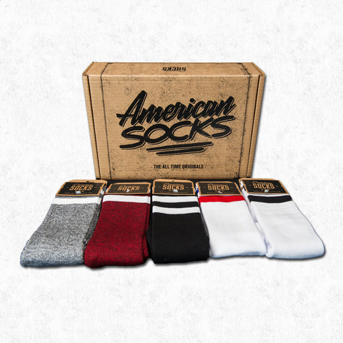 socks gift box cotton crossfit knee high old school skater american barcelona