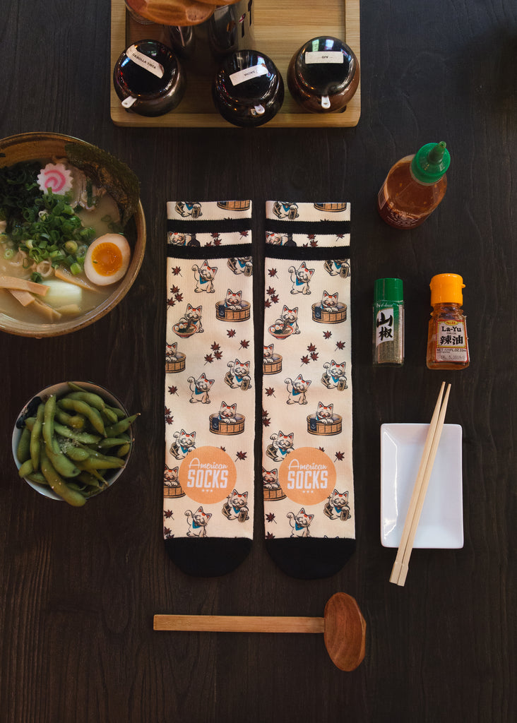 maneki neko american socks japanese japan Barcelona calcetines