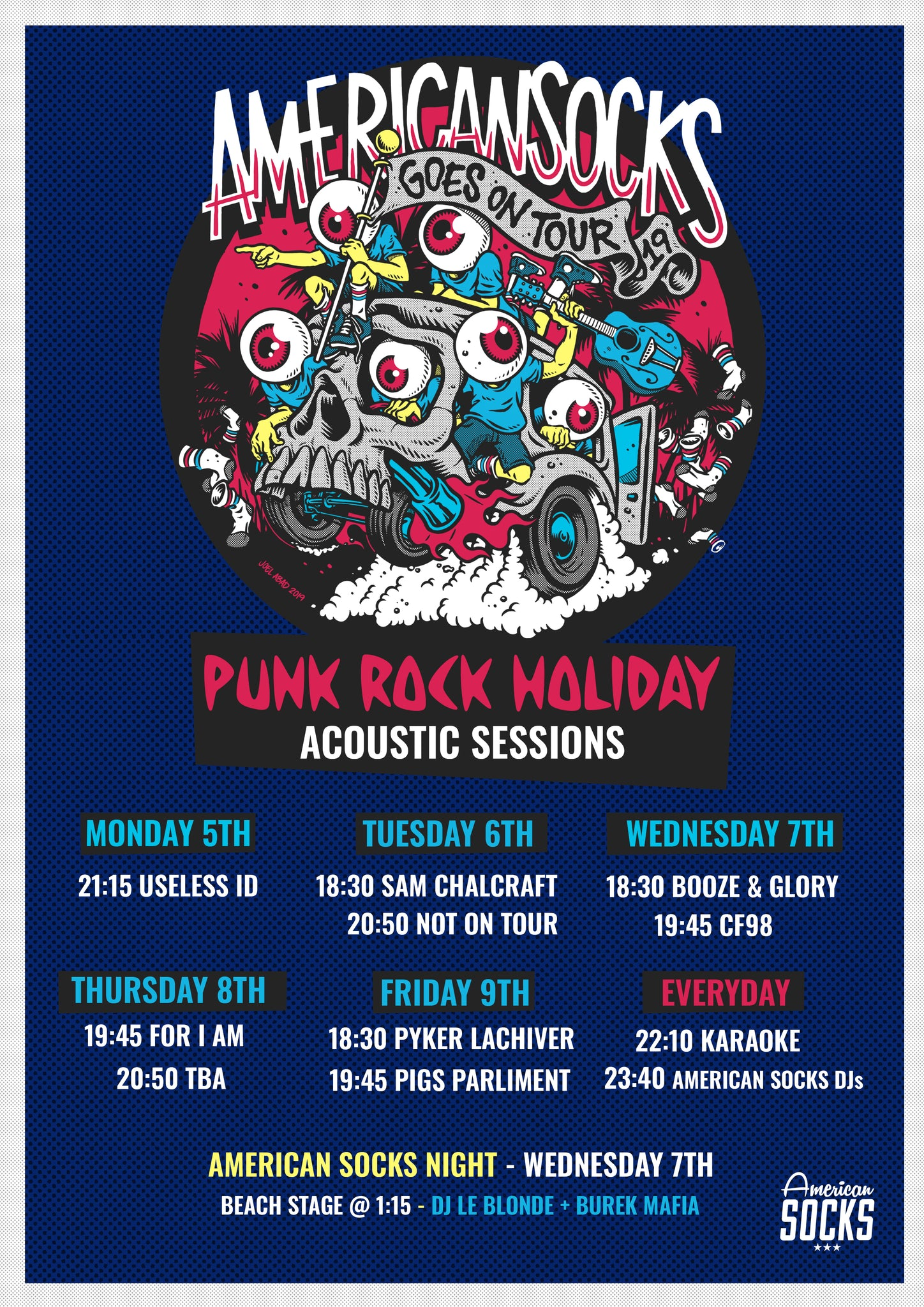 american socks punk rock holiday acoustics 2019 americansocks prh