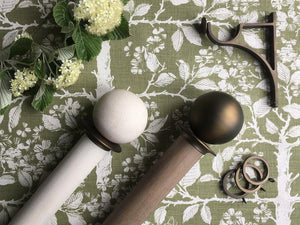 Walcot House wooden curtain poles