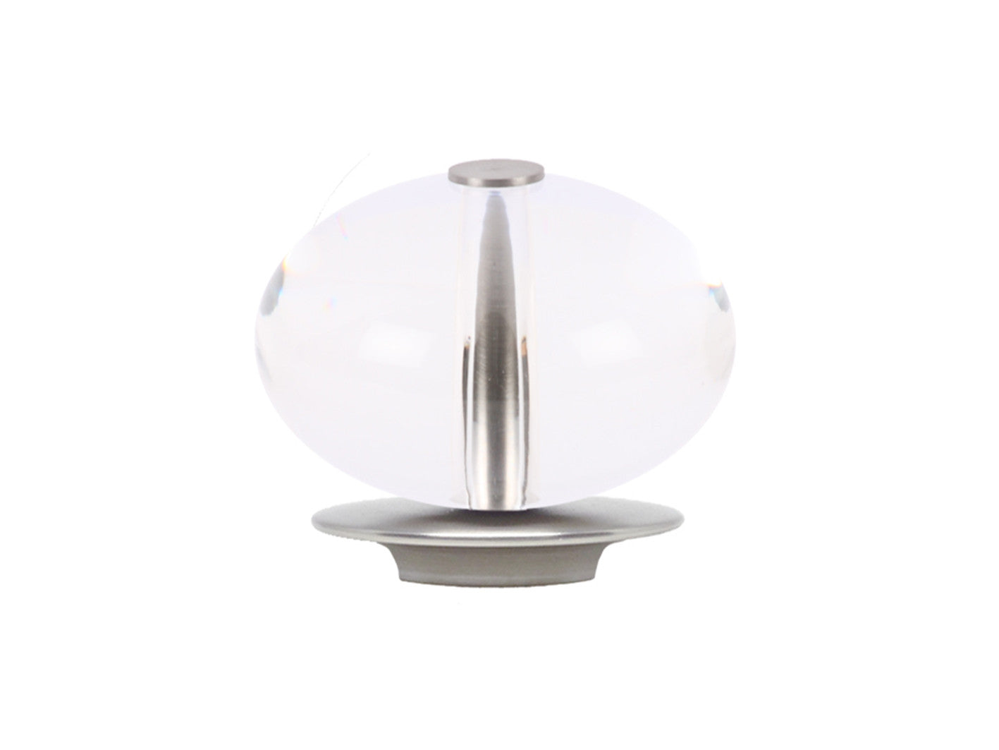 clear acrylic ellipse finial
