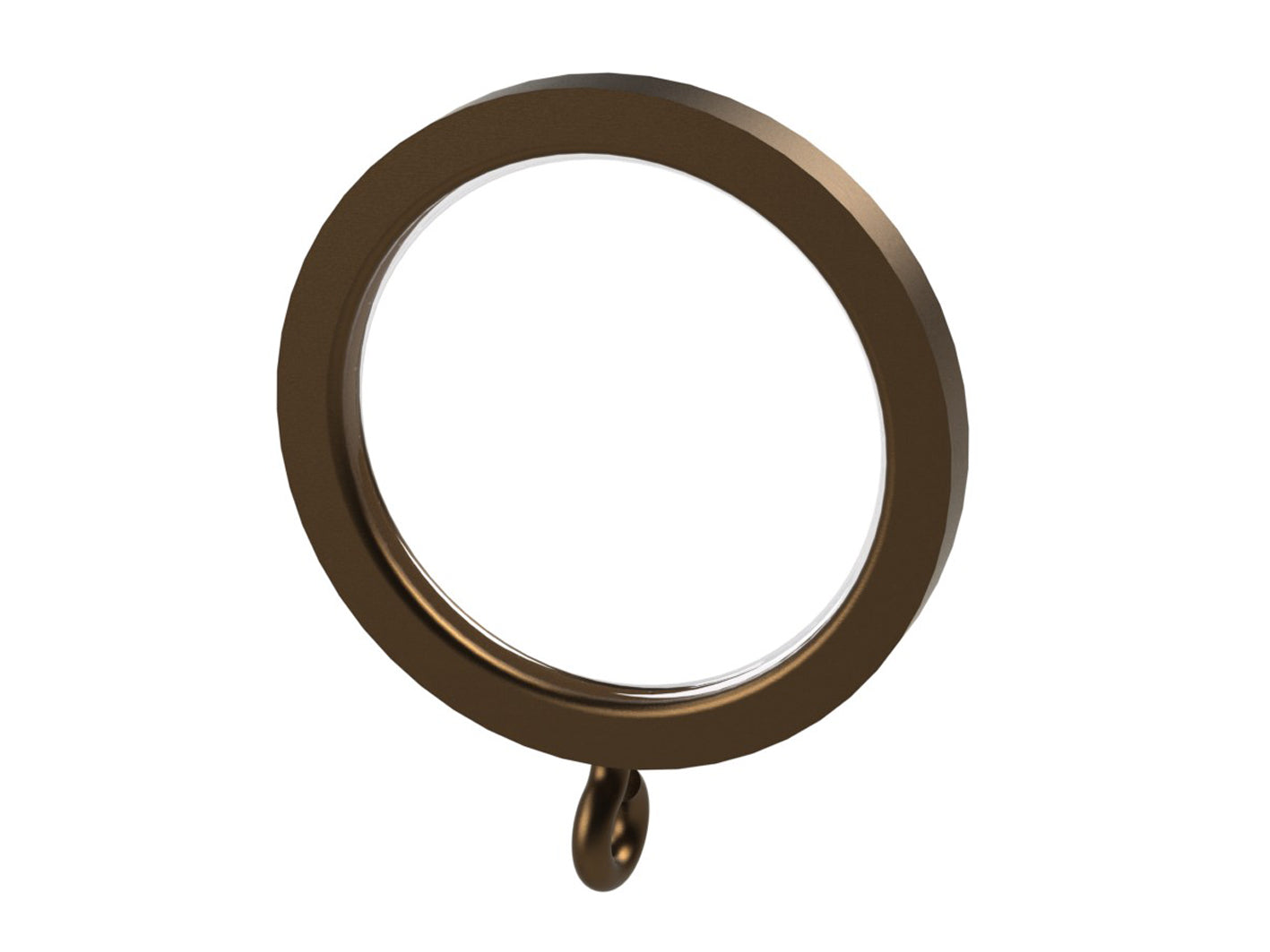 brushed bronze curtain rings for 30mm curtain pole by Walcot House