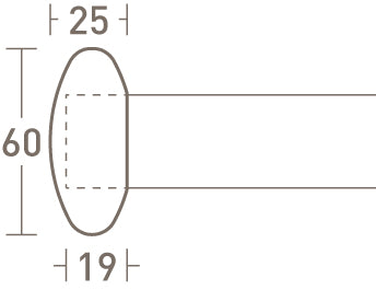 elliptical finial dimensions