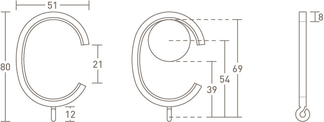 30mm passing rings by Walcot House