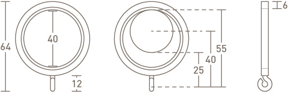 30mm curtain ring dimensions