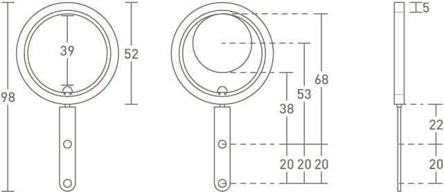 30mm pleating curtain ring dimensions