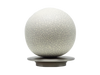 Brushed Steel ball 50mm curtain pole finial by Walcot House