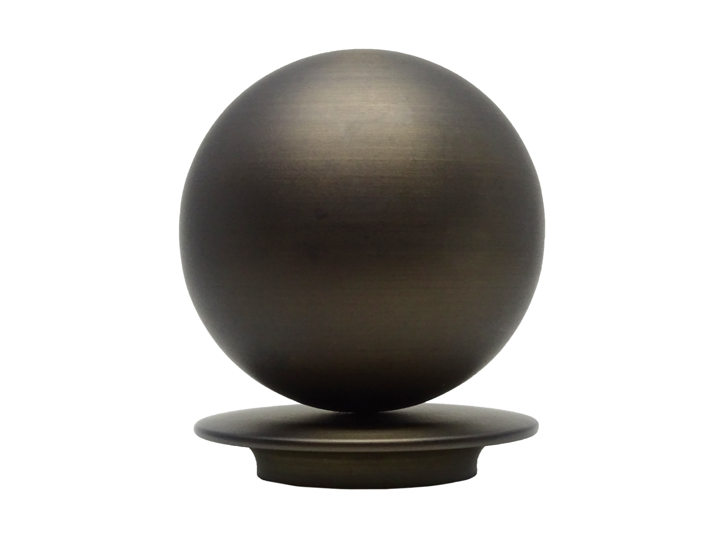 brushed bronze 50mm metal ball finial