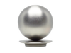 Brushed Steel metal ball 50mm curtain pole finial by Walcot House