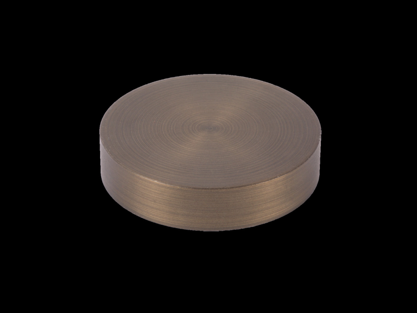 brushed bronze 50mm mini disc finial