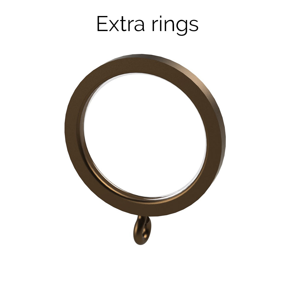 extra 30mm brushed bronze rings