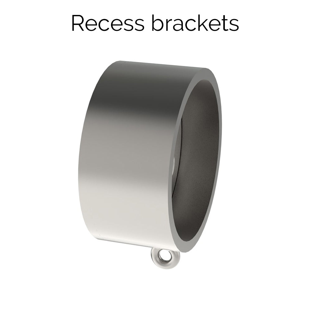 50mm stainless steel recess bracket