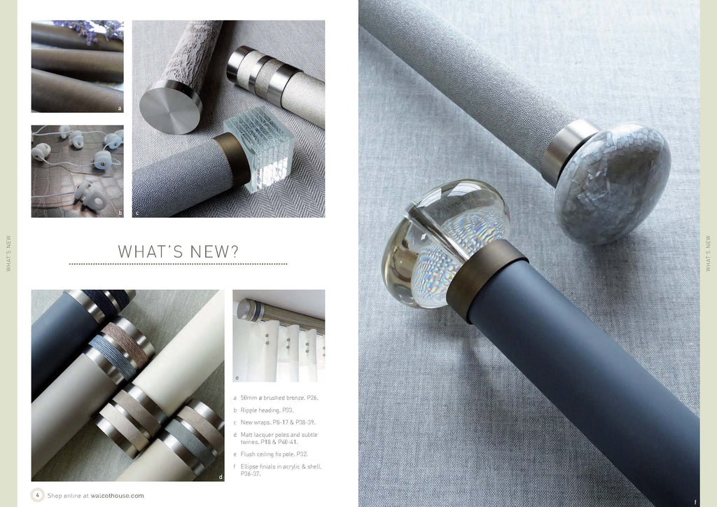 Walcot House curtain poles - What's New