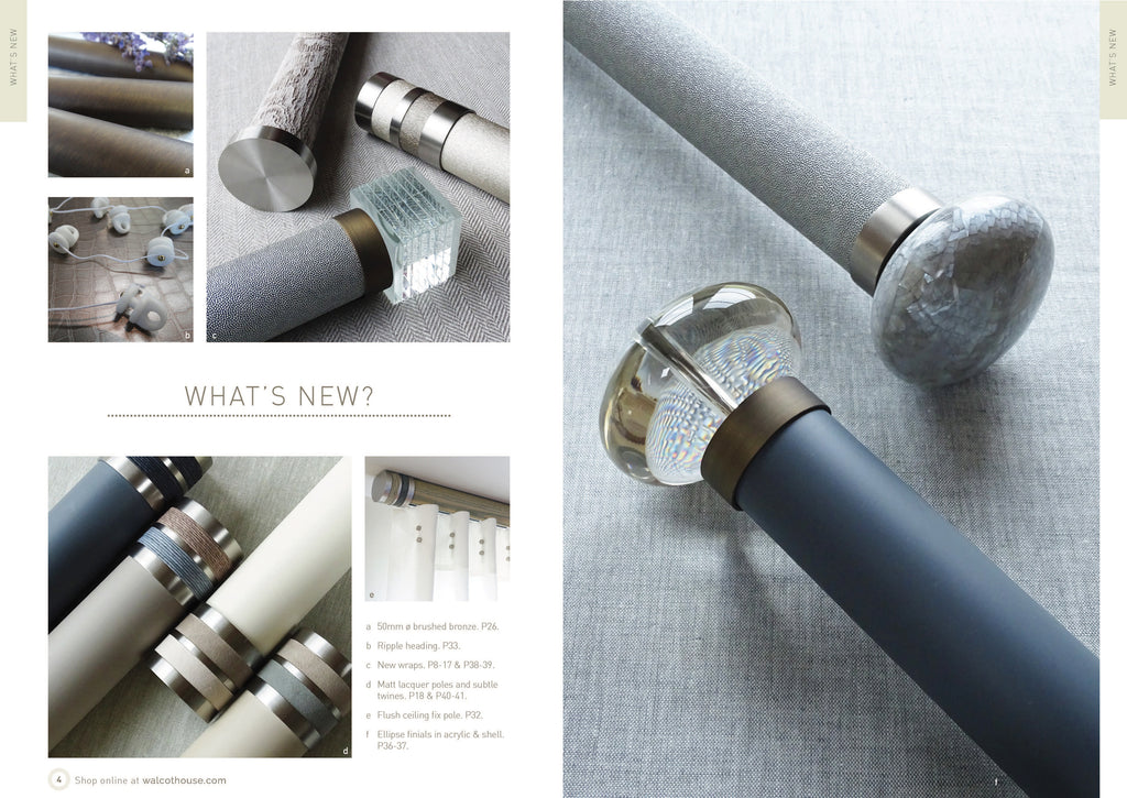 Walcot House Curtain poles - whats new