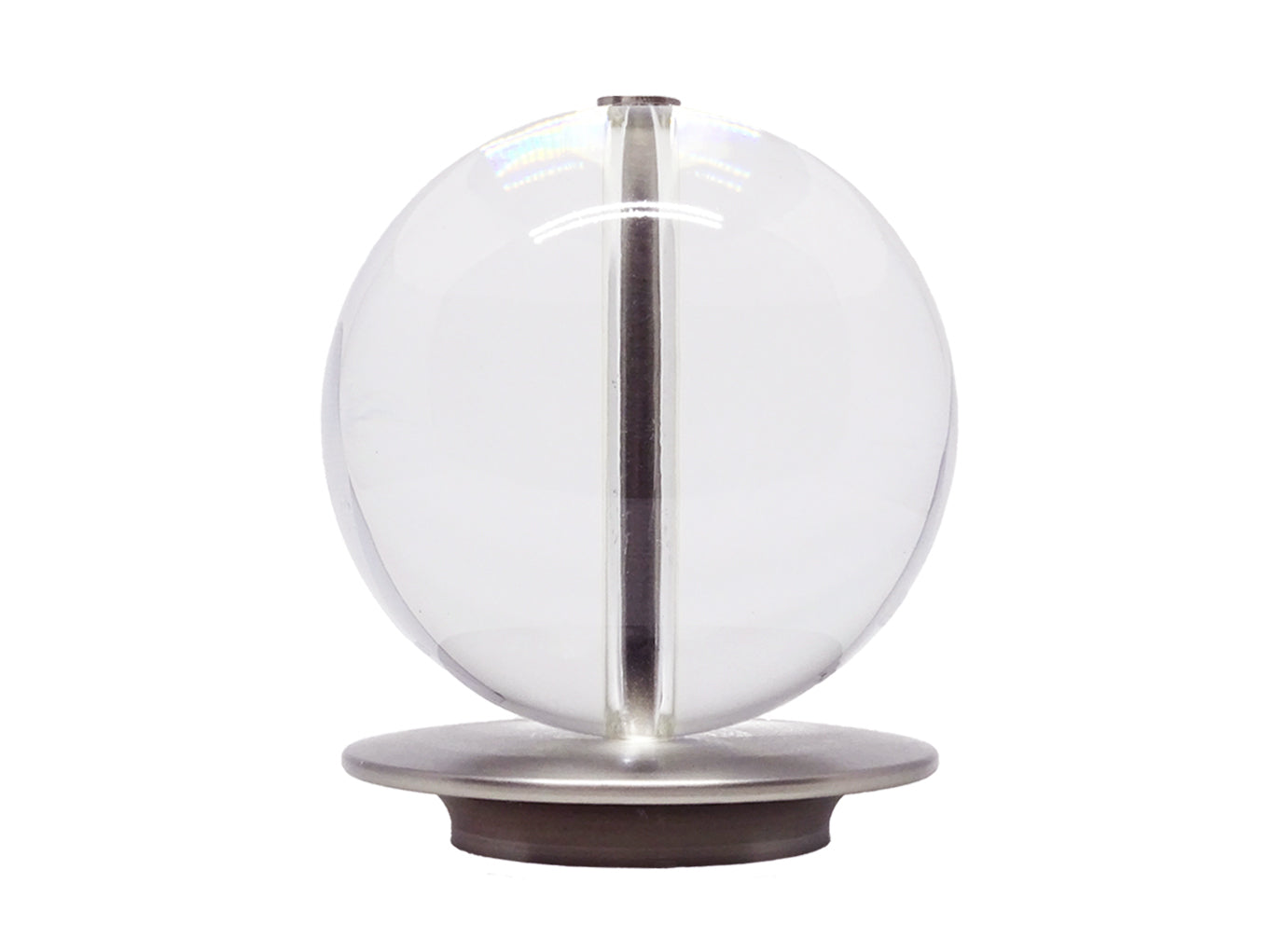 Brushed Steel acrylic ball 50mm curtain pole finial by Walcot House