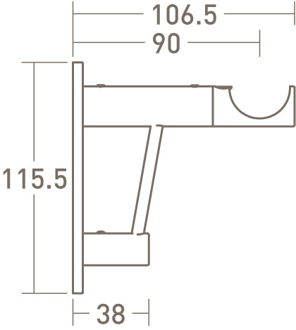 architrave upgrade for standard bracket dimensions - 30mm dia. pole