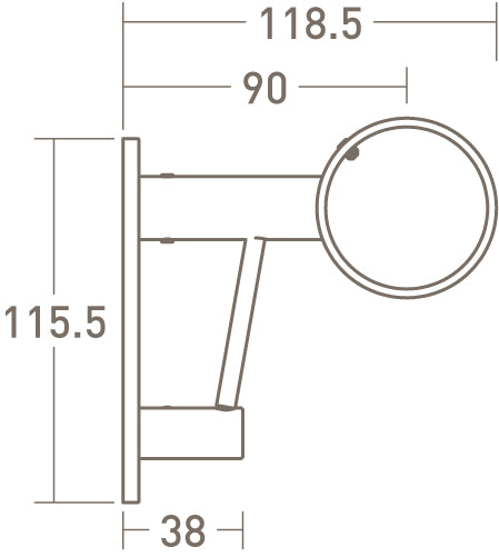 architrave upgrade for standard ring bracket dimensions - 50mm dia. pole