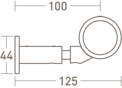 connector bracket for 50mm dia. curtain pole - extended