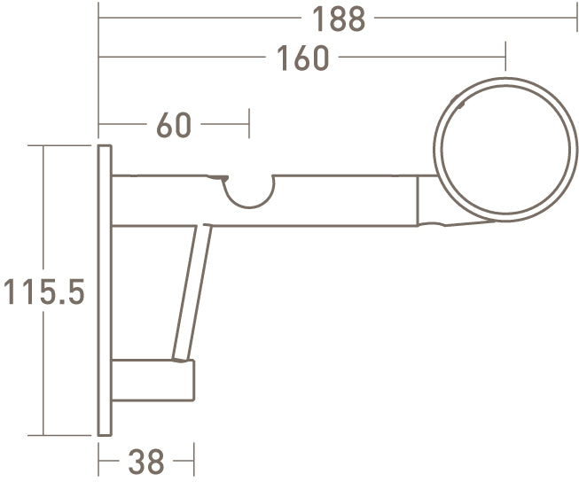 stainless steel double end bracket by walcot house