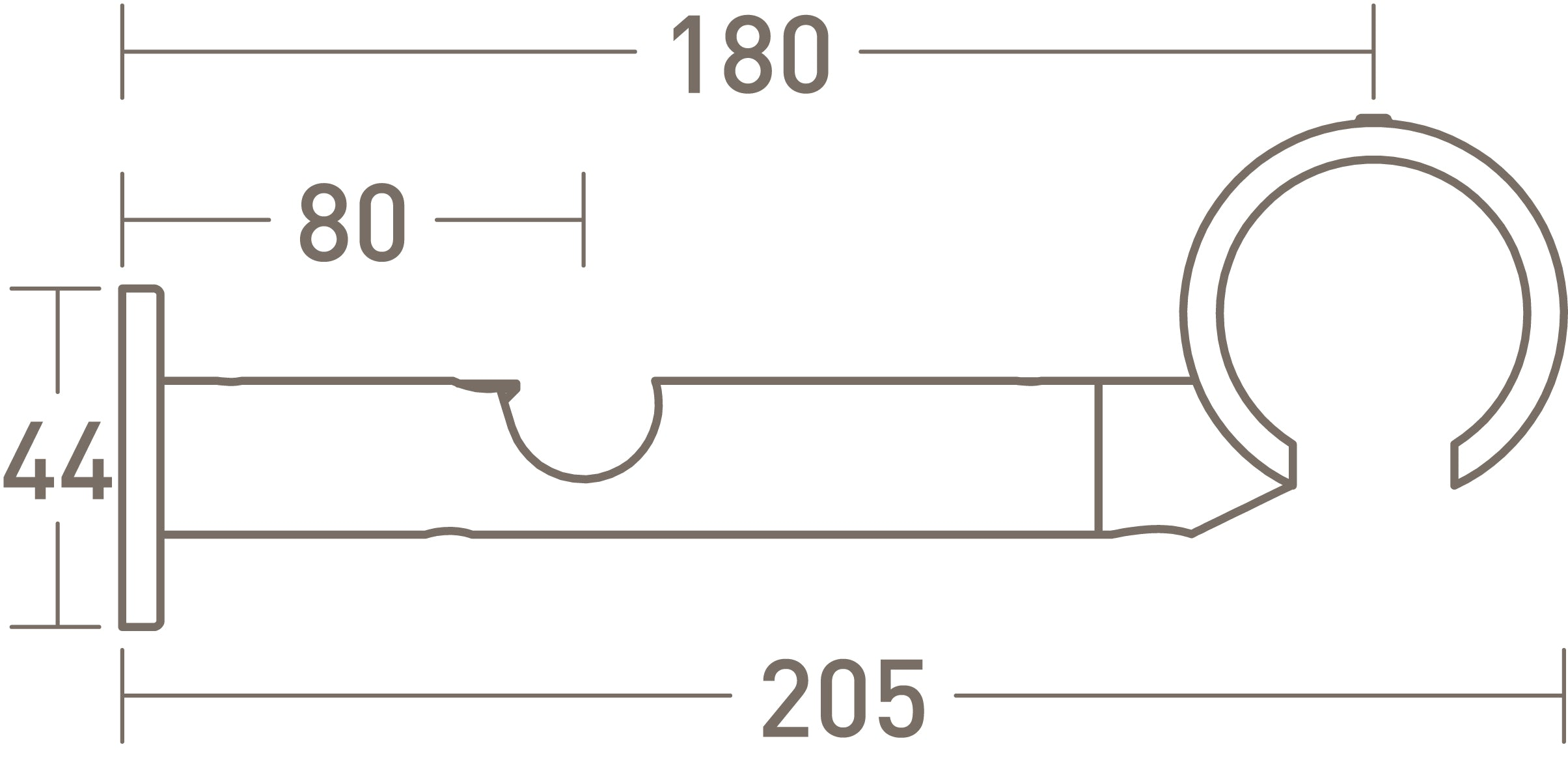 stainless steel double connector bracket by walcot house