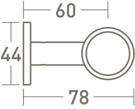 face fix ring bracket for 30mm pole