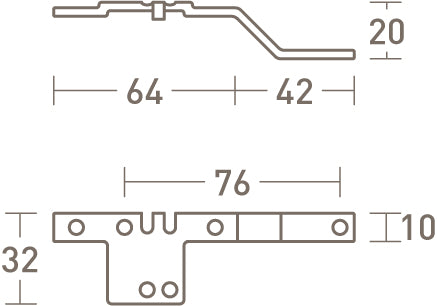 overlap arms for tracked curtain poles