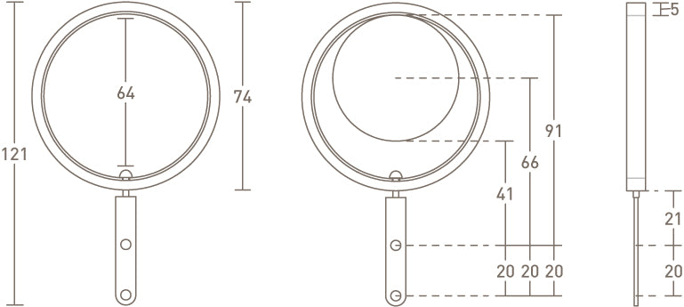 50mm pleating curtain ring dimensions
