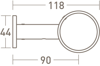 face fix ring bracket for 50mm pole