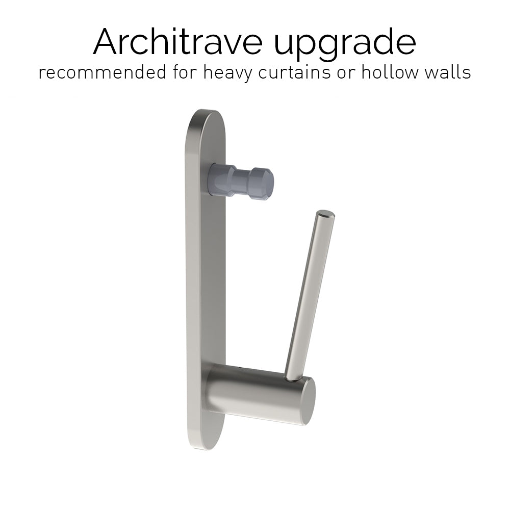 stainless steel architrave standard bracket for 50mm dia. pole