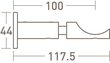 50mm stainless steel standard bracket dimensions - extended
