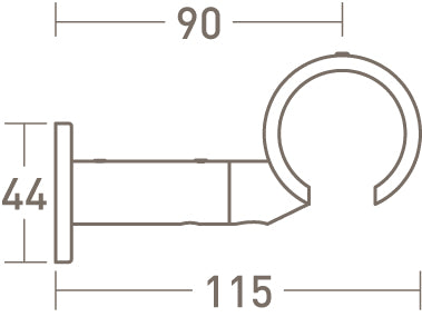 connector bracket for 50mm dia. curtain pole