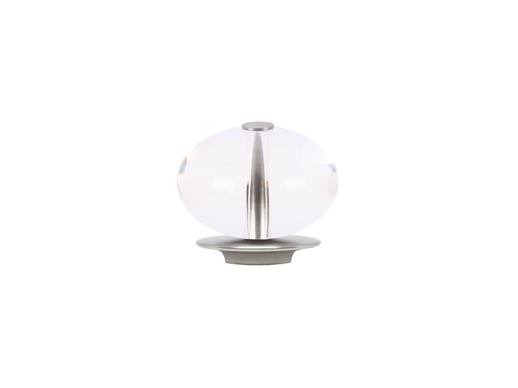 Acrylic ellipse finial in stainless steel for 19mm dia. curtain poles