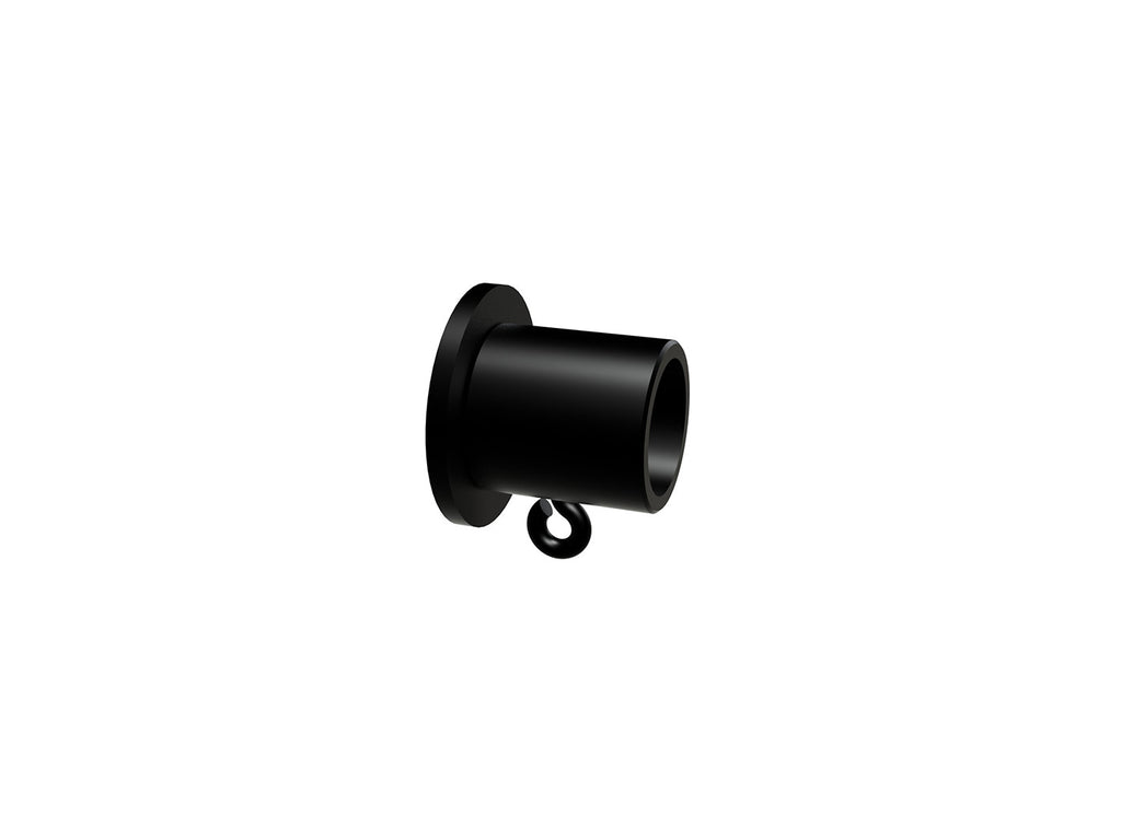 Recess bracket for 19mm diameter curtain pole in black