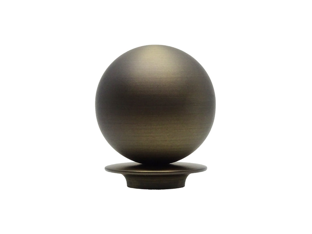 Bronze ball finial for 30mm curtain pole